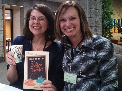 Sharing a coffee break with my author friend Amelia Rhodes! She wrote the book on this, you know. :)
